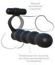 Вибронасадка для двойного проникновения Posable Partner Double Penetrator черная