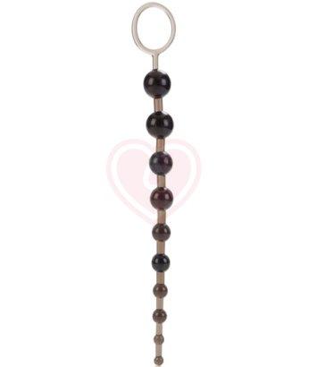 Анальная цепочка Platinum X-10 Beads чёрная
