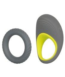 Пара эрекционных колец Link Up Edge серый-желтый