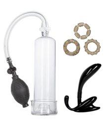 Набор из помпы, анального стимулятора и колец His Essential Pump Kit