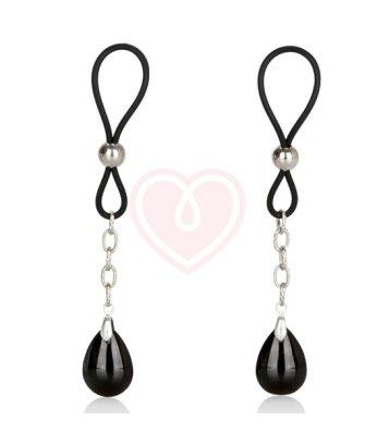 Зажимы на соски с кристаллами Nipple Play Non-Piercing Jewelry Onyx