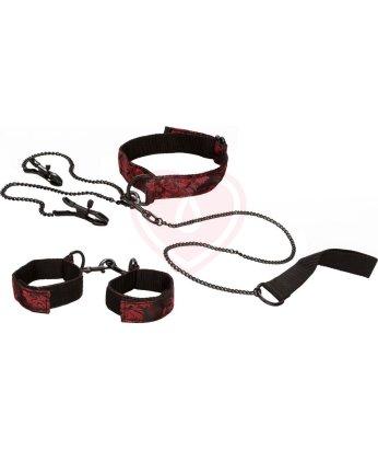 Набор ошейник и наручники Scandal Submissive Kit