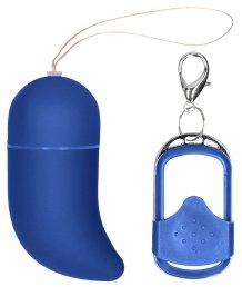 Виброяйцо с пультом управления Small Wireless Vibrating G-Spot Egg синее