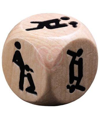 Деревянный кубик для игры вдвоём Ночь любви
