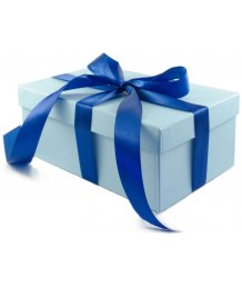 Подарочная коробка 19х12 см голубая