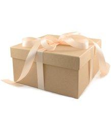 Крафтовая подарочная коробка 20х20 см