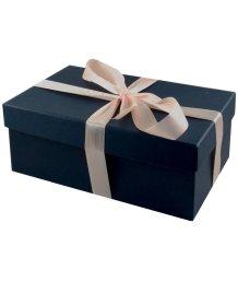 Подарочная коробка 21х14 см синяя