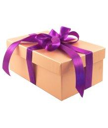Подарочная коробка 21х14 см золотая