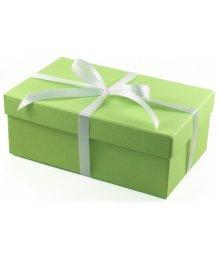 Подарочная коробка 19х12 см зелёная