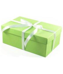 Подарочная коробка 21х14 см салатовая