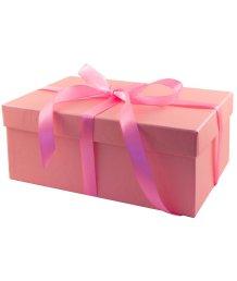 Подарочная коробка 21х14 см розовая
