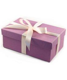 Подарочная коробка 19х12 см сиреневая