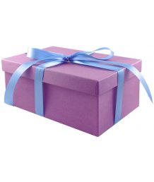 Подарочная коробка 21х14 см сиреневая