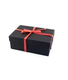 Маленькая подарочная коробка 21х14 см чёрная