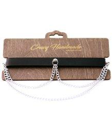 Кожаный чокер с цепочками Crazy Handmade