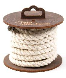Хлопковая веревка для шибари на катушке белая 3 м