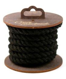 Хлопковая веревка для шибари на катушке черная 3 м