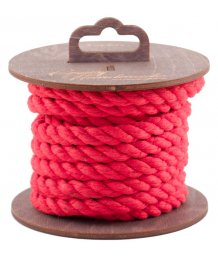 Хлопковая веревка для шибари на катушке красная 3 м