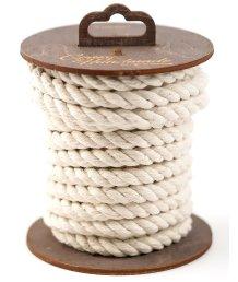 Хлопковая веревка для шибари на катушке белая 5 м