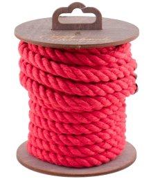 Хлопковая веревка для шибари на катушке красная 5 м