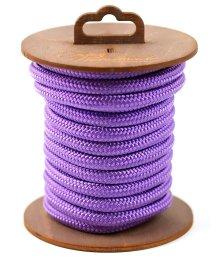 Нейлоновая веревка для шибари на катушке фиолетовая 5 м