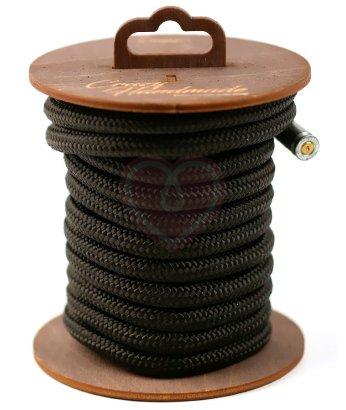 Нейлоновая веревка для шибари на катушке черная 5 м