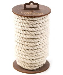 Хлопковая веревка для шибари на катушке белая 10 м
