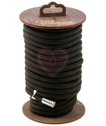 Нейлоновая веревка для шибари на катушке черная 10 м