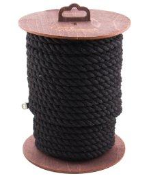 Хлопковая веревка для шибари на катушке чёрная 20 м