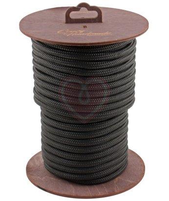 Нейлоновая веревка для шибари на катушке черная 20 м