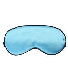 Мягкая шелковая маска для глаз голубая