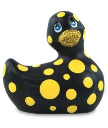Вибромассажер уточка I Rub My Duckie 2.0 в желтый горошек