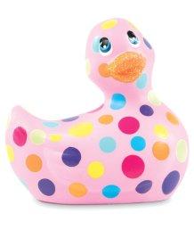 Вибромассажер уточка I Rub My Duckie 2.0 в цветной горошек