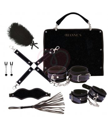БДСМ-набор с сумочкой для хранения Rianne S Kinky Me Softly черный