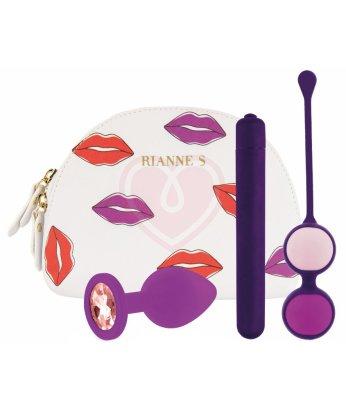 Набор из 3 игрушек Rianne S First Vibe Kit с косметичкой для хранения