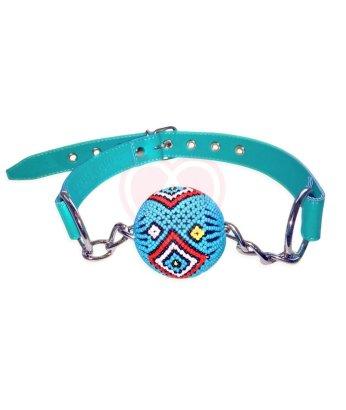 Дизайнерский кляп с шариком Shiri Zinn Tribial Set бирюзовый