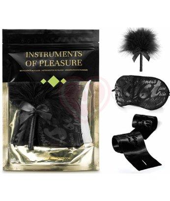 Игровой набор с маской и щекоталкой Bijoux Instruments of Pleasure чёрный