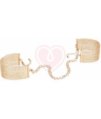 Металлические наручники-браслеты Bijoux Magnifique Metallic Chain золотые
