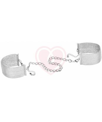 Металлические наручники-браслеты Bijoux Magnifique Metallic Chain серебряные