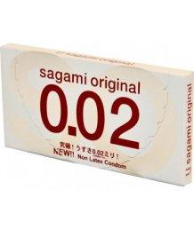 Ультратонкие полиуретановые презервативы Sagami Original 002 2шт
