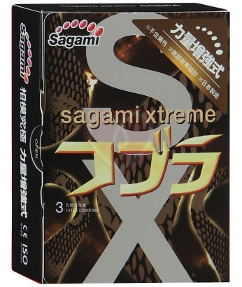 Презервативы Sagami Cobra конусообразные супер облегающие 3шт