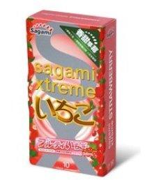 Презервативы Sagami Xtreme Strawberry со вкусом клубники 10 шт