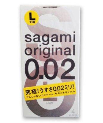 Ультратонкие полиуретановые презервативы Sagami Original 002 4шт
