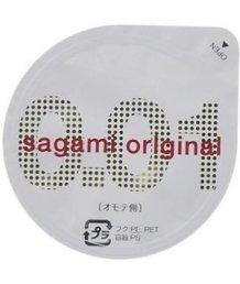 Самый тонкий презерватив Sagami Original 001 полиуретановый 1шт