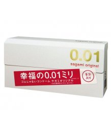 Полиуретановые презервативы Sagami Original 001 5шт