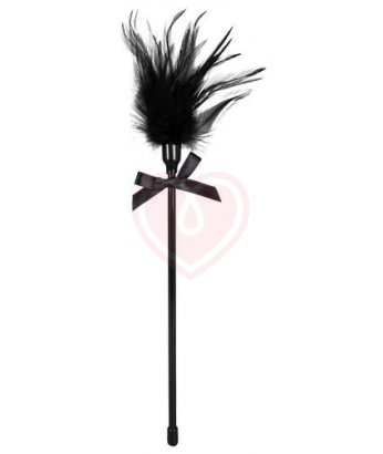 Перышко для щекотания с бантиком Feather черное