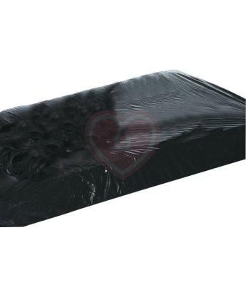Виниловая простынь на резинке Vinyl Fitted Sheet 220х220 см черная