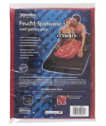 Виниловая простынь на резинке Fetish 180х260 см красная