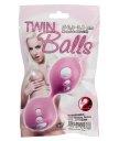 Простые вагинальные шарики Twin Balls розовые