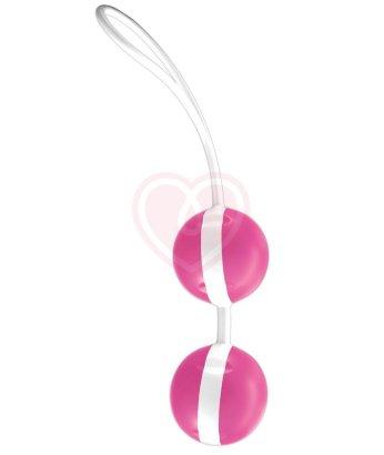 Вагинальные шарики со смещенным центром тяжести Joyballs розовые